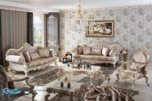 Set Kursi Tamu Sofa Mewah White Balance Klasik Terbaru