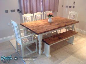 Set Meja Makan Mewah Exiting Oak Dining Room Model Terbaru