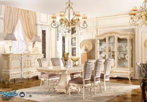Set Meja Makan Mewah Hanbook White Klasik Terbaru