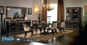 Set Meja Makan Mewah Luxury Classic Dining Room Terbaru