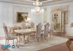 Set Meja Makan Mewah Luxury White Dining Room Set Terbaru