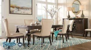 Set Meja Makan Mewah Rectangle Dining Room Set Terbaru