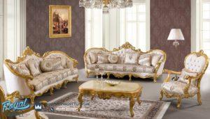 Set Sofa Tamu Mewah Donato Klasik Model Terbaru