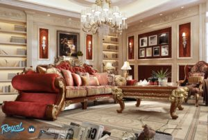Set Sofa Tamu Mewah European Klasik Victorian Terbaru