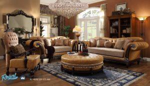 Set Sofa Tamu Mewah Jati Fabulos Homey Living Room Set Terbaru