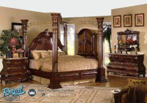 Set Kamar Tidur Mewah American Bedroom Set Jati Klasik Terbaru