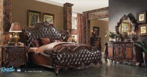 Set Kamar Tidur Mewah Rococo Bed Jati Klasik Ukiran Terbaru
