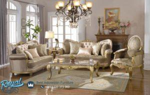 Set Kursi Tamu Sofa Mewah Gold Ukiran Jepara Terbaru