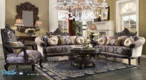 Set Kursi Tamu Sofa Mewah Klasik Jati Ukiran Terbaru