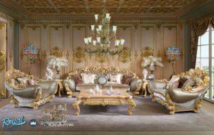 Set Kursi Tamu Sofa Mewah Ukiran Klasik Terbaru