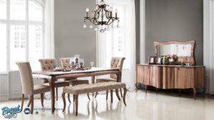 Set Meja Makan Mewah Furniture Elegan Klasik Terbaru