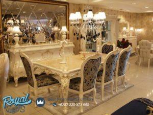 Set Meja Makan Mewah Furniture Eropa Klasik Terbaru