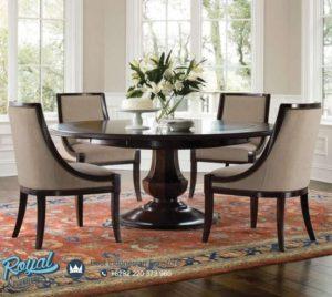 Set Meja Makan Mewah Jati Klasik Round Table Terbaru