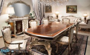 Set Meja Makan Mewah Luxury Dining Room Terbaru