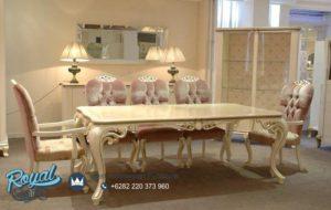 Set Meja Makan Mewah Palmi Klasik Model Furniture Terbaru