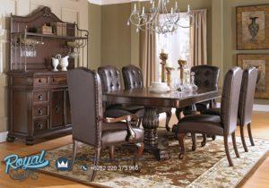 Set Meja Makan Mewah Sophia Reddock Furniture Ruang Makan Terbaru