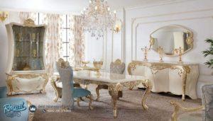 Set Meja Makan Mewah Sultan Furniture Ruang Makan Terbaru