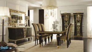 Set Meja Meja Makan Mewah Dachi Dopp Furniture Terbaru