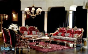 Set Sofa Tamu Mewah Brown Set Living Room Mewah Terbaru