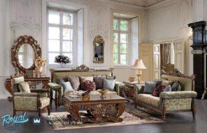 Set Sofa Tamu Mewah Jati Klasik Tradisional Furniture Kualitas Terbaru