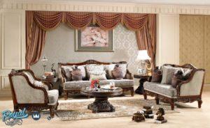 Set Sofa Tamu Mewah Luxurious Jati Klasik Terbaru