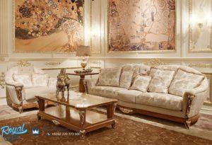 Set Sofa Tamu Mewah Medicea White Classic Terbaru