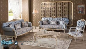 Set Sofa Tamu Mewah Mervindo Takimi Klasik Furniture Living Room Terbaru
