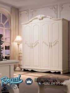 Lemari Pakaian 4 Pintu Duco Putih Terbaru