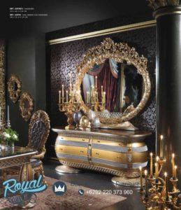 Meja Rias Mewah Golden Silver Ukiran Klasik Terbaru