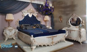 Set Kamar Tidur Mewah Jenia Klasik Ukiran Jepara Model Terbaru