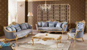 Set Kursi Tamu Mewah Victoria Klasik Takimi Gold Terbaru