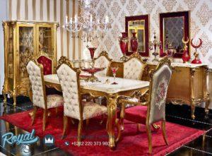 Set Meja Makan Mewah Gold Russian Ukir Terbaru