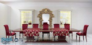 Set Meja Makan Mewah New Classic Desain Furniture Terbaru