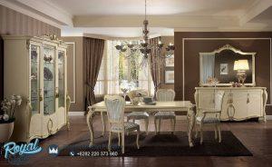 Set Meja Makan Mewah Selda Klasik Furniture Ruang Makan Terbaru