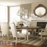 Set Meja Makan Minimalis Femerican White Dining Room Terbaru