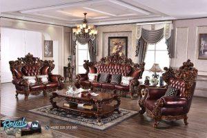 Set Sofa Tamu Mewah Classic Safran Semi Minimalis Terbaru