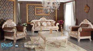 Set Sofa Tamu Mewah Klasik Europe Ukiran Terbaru