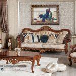 Set Sofa Tamu Mewah Klasik Jati Ukir Jepara Terbaru