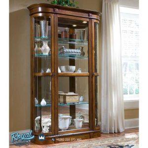Almari Hias Mewah Glass Display Cabinet Terbaru