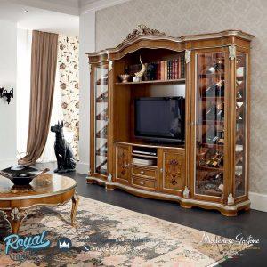 Bufet TV Mewah Set Highboard Modenese Klasik Terbaru