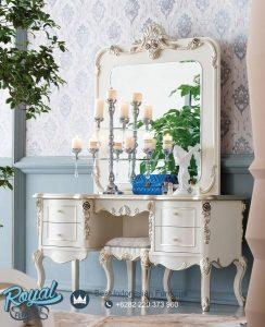 Meja Rias Mewah Rusian Flato Duco Putih Terbaru