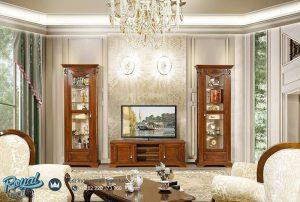 Set Bufet TV Mewah Ardudana Jati Klasik Living Room Terbaru