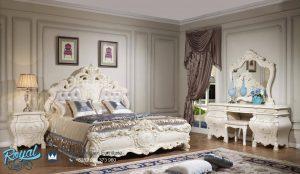 Set Kamar Tidur Mewah Bedroom Set Putih Ukiran Terbaru