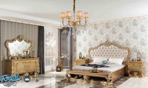 Set Kamar Tidur Mewah Gold Perifi Bedroom Set Terbaru