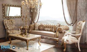 Set Kursi Tamu Sofa Mewah Koltuk Klasik Ukiran Terbaru
