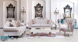 Set Kursi tamu Sofa White Classic Ukiran Jepara Terbaru