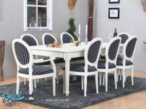 Set Meja Makan Mewah Arirang Duco White Terbaru