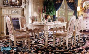 Set Meja Makan Mewah Furniture Ukir Jepara Terbaru