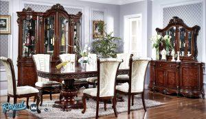 Set Meja Makan Mewah Jati Klasik Model Dining Room Terbaru