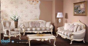 Set Sofa Tamu Mewah Bedsten White Classic Ukiran Terbaru